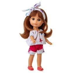 Poupée Berjuan 22 cm - Boutique dolls - Robe Luci avec étoiles imprimées