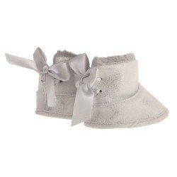 Compléments pour poupée Antonio Juan 40-52 cm - Bottines à paillettes grises