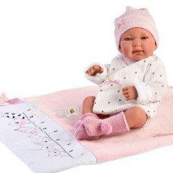 Poupée Llorens 43 cm - Tina nouveau-né avec matelas à langer-mètre bébé