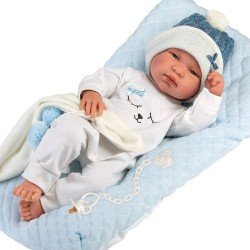 Poupée Llorens 43 cm - Tino nouveau-né avec coussin