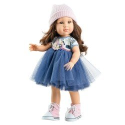 Poupée Paola Reina 45 cm - Soy tú - Ashley avec robe en tul bleu