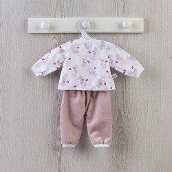 Outfit für Así Puppe 36 cm - Rosa Elefantenpyjama für Alex Puppe