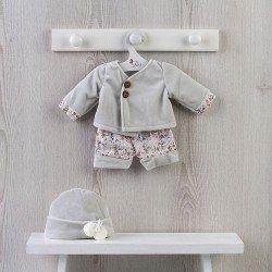 Outfit für Así-Puppe 43 cm - Samtgraues Outfit für Pablo-Puppe
