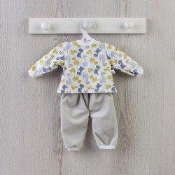 Outfit für Así-Puppe 43 cm - Dino-Pyjama für Pablo-Puppe