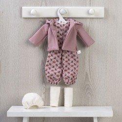Outfit für Así-Puppe 40 cm - Bedruckter Overall und Kapuzenjacke für Sabrina-Puppe