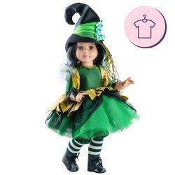 Outfit für Paola Reina Puppe 60 cm - Las Reinas - Hexengrünes Kleid