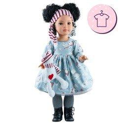 Outfit für Paola Reina Puppe 60 cm - Las Reinas - Mei Bärenkleid