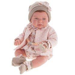 Antonio Juan Puppe 40 cm - Lea mit Lachsjacke Reborn limitierte Serie