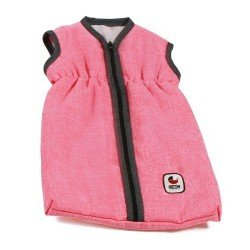 Schlafsack für Puppen bis 55 cm - Bayer Chic 2000 - Koralle-Grau
