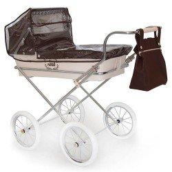 Schokoladenfarbener Regenschutz für Bebelux Puppenwagen