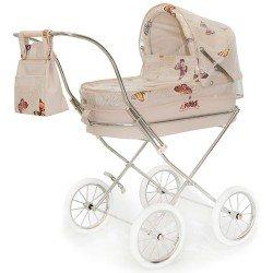 Beige Regenhülle für Bebelux runden Puppenwagen
