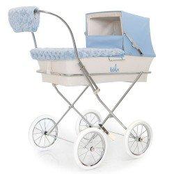Hellblaues Winterset für Bebelux Puppenwagen
