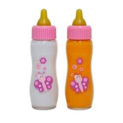 Zubehör für Puppen Berenguer - Set mit zwei Babyflaschen
