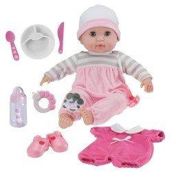 Berenguer Boutique Puppe 38 cm - Mit rosa Pyjama und Accessoires