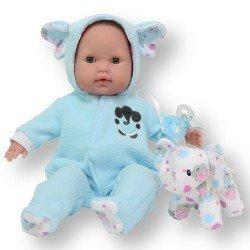 Berenguer Boutique Puppe 38 cm - Mit blauem Elefantenpyjama