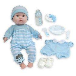 Berenguer Boutique Puppe 38 cm - Mit blauem Pyjama und Accessoires
