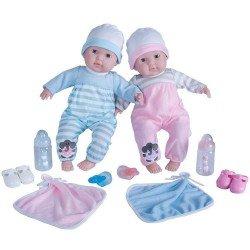 Berenguer Boutique Puppe 38 cm - Zwillinge mit Pyjama und Accessoires