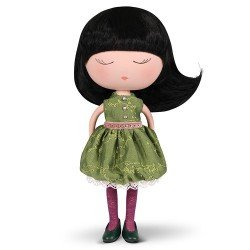 Berjuan Puppe 32 cm - Anekke - Träume mit grünem Outfit