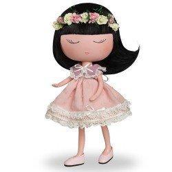 Berjuán Puppe 32 cm - Anekke - Natur mit rosa Outfit