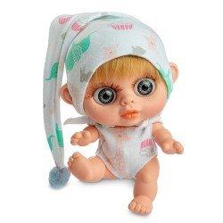 Berjuan Puppe 14 cm - Baby Biggers blond mit Giraffen