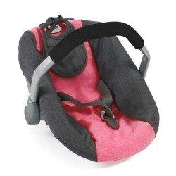 Autositz für Puppen von 46 cm - Bayer Chic 2000 - Koralle-Grau