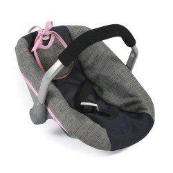 Autositz für Puppen von 46 cm - Bayer Chic 2000 - Navy-Grau