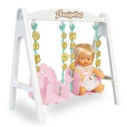 Zubehör für Barriguitas Classic Puppe 15 cm - Schaukel mit Babyfigur