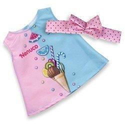 Outfit für Nenuco Puppe 35 cm - Sommerkleid mit Stirnband
