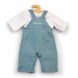 Outfit für Nenuco Puppe 42 cm - Blauer Overall mit weißem Hemd