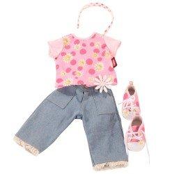 Götz Puppen Outfit 45-50 cm - Combo Gänseblümchen