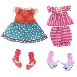 Lalaloopsy Puppe Outfit 31 cm - Set Pyjama und Kleid