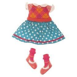 Lalaloopsy Puppe Outfit 31 cm - Kleid mit Rauten und Tupfen