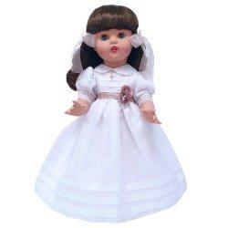 Mariquita Pérez Puppe 50 cm - Kommunion weißes Organdi mit Blume