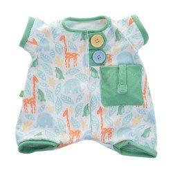 Outfit für Rubens Barn Puppe 45 cm - Rubens Baby - Pocket Friends grüner Schlafanzug