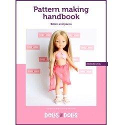 Puppen und Puppen herunterladbare Anleitung für Las Amigas Puppen - Bikini mit Pareo