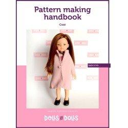 Puppen und Puppen herunterladbares Muster für Las Amigas-Puppen - Mantel