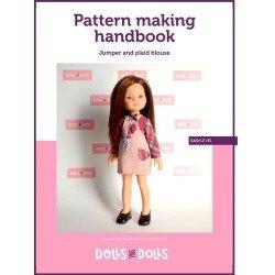 Puppen und Puppen herunterladbares Muster für Las Amigas-Puppen - Pullover mit karierter Bluse