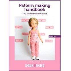 Puppen und Puppen herunterladbare Anleitung für Las Amigas Puppen - Lange Hose mit Wendebluse