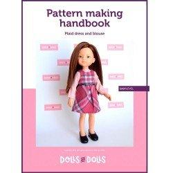 Dolls And Dolls herunterladbares Muster für Las Amigas Puppen - Kariertes Kleid mit Bluse