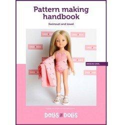 Puppen und Puppen herunterladbare Anleitung für Las Amigas Puppen - Badeanzug mit Handtuch