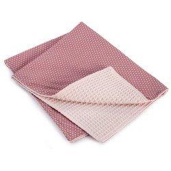 Complementi Bambola Así - Coperta rosa con stelle bianche