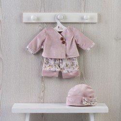 Completo per bambola Así 43 cm - Completo in velluto rosa antico per bambola María