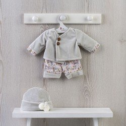 Completo per bambola Así 43 cm - Completo grigio velluto per bambola Pablo