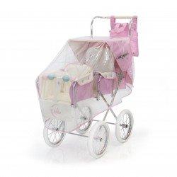 Burbuja cubrelluvias rosa para sillita Gemelar de muñecas Big Bebelux