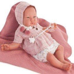 """Bambola Antonio Juan 52 cm - """"Mi primer Reborn"""" Alejandra con cappuccio"""