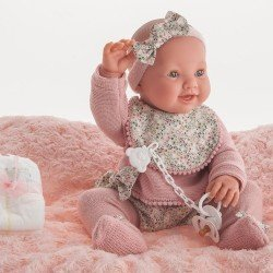 Bambola Antonio Juan 42 cm - Mia Pee neonata con bavaglino