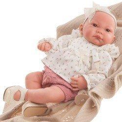 Bambola Antonio Juan 40 cm - Nica con fiocco e coperta Reborn serie limitata