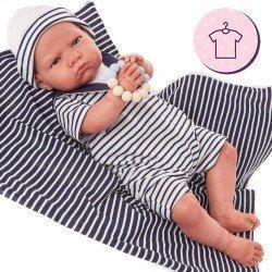 Completo bambola Antonio Juan 52 cm - Collezione Mi Primer Reborn - Completo da marinaio con cappello