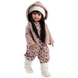 Bambola Así 40 cm - Sabrina con tuta stampata e giacca con cappuccio