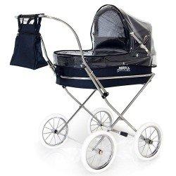 Parapioggia blu navy per carrozzina rotonda per bambole Bebelux